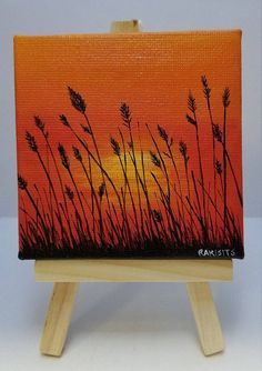 Best christmas art painting canvases holidays 62 I Small Canvas Paintings, Small Canvas Art, Mini Canvas Art, Nature Paintings, Diy Canvas, Mini Paintings, Canvas Ideas, Sunset Paintings, Acrylic Canvas