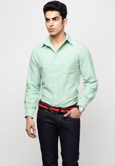 Light Green Formal Shirts   Check out this green formal shirt from Andrew Hill that will give a new definition to your office look. Designed for contemporary men of today, this full-sleeved shirt will lend you a smart appeal. Made from 100% cotton, this regular-fit shirt will keep you cool and comfortable.  http://offerground.com/light-green-formal-shirts/#.UZXD_cq84rc