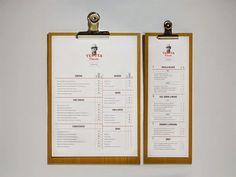 small narrow clipboard for wine menu
