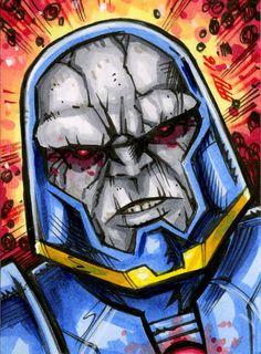#darkseid #sketchcard