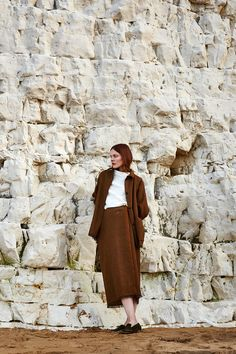 The rocky cliffs and sandy beaches of the Gulf of Finland was the perfect backdrop for designer Jenni Väänänen's second preseason collection for Finnish labelSamuji. The collection is rootedby natural fabrics that requirelow maintenance care, like linen and wool, while still maintaining
