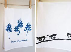 A must-have for any Texas kitchen: blue bonnet tea towels by Kimball Prints. Available at Parts & Labour in Austin.