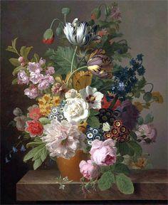 Jan Frans van Dael (Flemish Painter, 1764-1840) Still Life Bouquet of Flowers | It's About Time