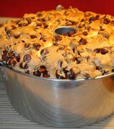 I don't even like angel food cake, but, CHOCOLATE CHIP angel food cake??