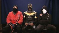 Real Life Superhero Vigilantes   VIDEO: Phoenix Jones, Red Dragon and Buster Doe defend their crime ...