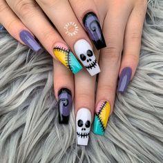 Holloween Nails, Halloween Acrylic Nails, Cute Halloween Nails, Halloween Nail Designs, Halloween Halloween, Halloween Recipe, Women Halloween, Halloween Projects, Halloween Makeup