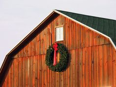 Barn Wreath. I love it when folks decorate their barns. Colorado was awesome for that!