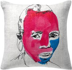 0000002P/painted pillow