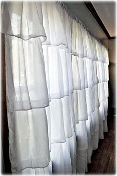 Ruffle Curtains. For Charlotte's window.