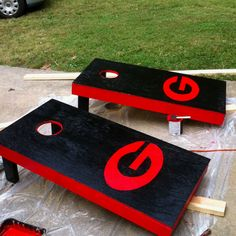 It's Great To Be A Georgia Bulldog! / Georgia Bulldog Cornhole Boards ...