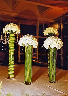 Don't forget to decorate inside your flower vases