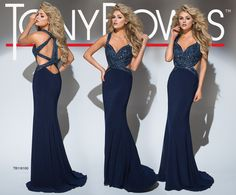 Tony Bowls TB116100 - Navy - Size 8 -  Available at Stella's Bridal & Evening Collections