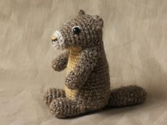 Monty the crochet marmot