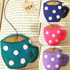 Teacup bookmarks make lovely gifts!
