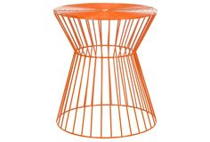 Alida Iron Stool, Orange