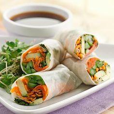 Asparagus & Salmon Spring Rolls  - EatingWell.com