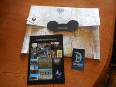 Collage of trip and patch from Disney plus membership pin are just a few of the things included in Girl Scout awards packet