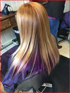 Old Fashioned Lilac Blonde Hair Brown Hair With Color Underneath 54450 Blonde Hair With Purple Color with regard to ucwords] Purple Blonde Hair, Plum Hair, Gold Blonde, Blonde Color, Brown Hair, Underdye Hair, Hair Day, Blonde Underneath Hair, Peekaboo Hair
