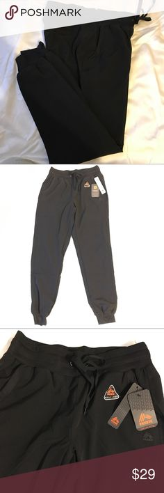 RBX Workout/Yoga Pants Lined Cuffed Loose S, XL RBX Brand polyester lined Athletic workout sweat pants. Ladies S or XL. Style # CR727. Loose and movable not clinging like tights or leggings. Two side pockets. Wide soft elastic waistband with outside tie. Black color. Free shipping. RBX Pants Track Pants & Joggers