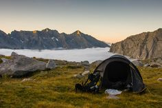 Goooooood Morning - This shot was taken during a trekking route called Sentiero Roma, in Valmasino, central Alps, Italy Paradise Hotel, Camping Photo, Wild Nature, Hiking Backpack, Mountaineering, Alps, Trekking, Backpacking, Outdoor Gear