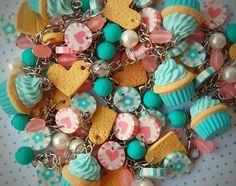pulseira com balinhas de antigamente - azul