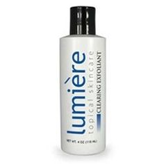 Lumiere Clearing Exfoliant - Lumiere Clearing Exfoliant 4 oz Bottle - 74057405 by PhotoMedex. $6.99. Lumiere Clearing Exfoliant 4 oz Bottle