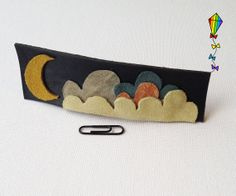 Large Hair Clip made from Reclaimed Leather – Midnight Design