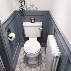 Small Downstairs Toilet, Small Toilet Room, Downstairs Cloakroom, Small Toilet Decor, Victorian Toilet, Victorian Bathroom, Bathroom Grey, Bathroom Design Small, Small Toilet Design