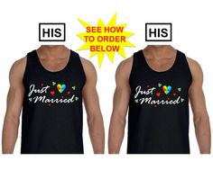 WEDDING GIFT His and His Just Married Gay Marriage by ALLGayTees