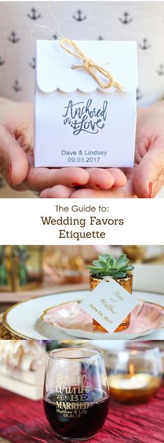 Your guide to finding, purchasing, and giving wedding favors that your guests will love.