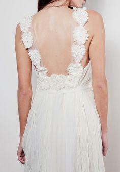 Dreamy low back Ivory wedding dress by Graceloveslace on Etsy, $1000.00