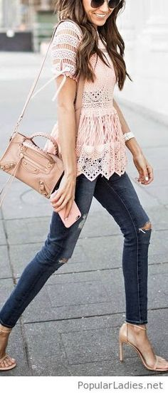 jeans-with-a-lace-top-and-nude-accessories (scheduled via http://www.tailwindapp.com?utm_source=pinterest&utm_medium=twpin&utm_content=post160358403&utm_campaign=scheduler_attribution)