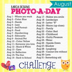 Photo A Day Challenge - August