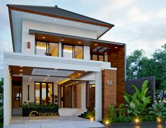 Home Decor 4 Modern Exterior House Designs, Modern House Facades, Architectural Design House Plans, Modern House Design, Single Floor House Design, House Front Design, Modern Bungalow House, Modern Mansion, Flat Roof House