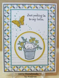handmade card using Stampin' Up! supplies