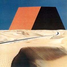 CHRISTO AND  JEANNE-CLAUDE, THE MASTABA OF ABU DHABI, PROJECT FOR THE UNITED ARAB EMIRATES, 1979
