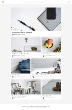 No Sidebar Pro Theme by StudioPress Blog Layout, Keep It Simple, Wordpress Theme, Living Spaces, Web Design, Typography, Child, Letterpress, Design Web