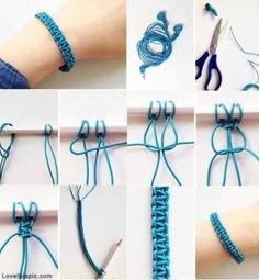 DIY bracelet I would do this but with string instead of earphone wires