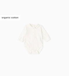 シャツ襟&エッジレース付きロンパース-トップス-ミニ (0 - 12ヶ月)-キッズ | ZARA 日本