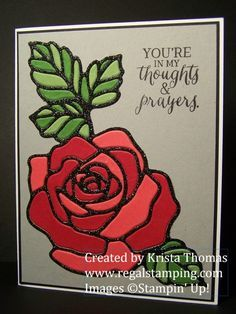 Awesome technique by Krista featuring the Rose Garden thinlts and stamped with Rose Wonder - all from Stampin' Up!
