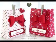 SpringWatch 2015 Red Heart Bow Builder Bag Tutorial   Stampin' Up! UK #1 Demonstrator Sam Donald