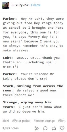 Tony and Strange as fathers and Loki as uncle. 👨‍👨‍👦 - Tony and Strange as fathers and Loki as uncle… 👨‍👨‍👦 Tony and Strange as fathers a - Avengers Humor, Marvel Jokes, Loki Marvel, Loki Meme, Funny Marvel Memes, Dc Memes, Marvel Dc Comics, Marvel Heroes, Tv Funny