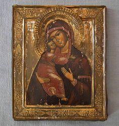 Authentic Antique Russian Orthodox Icon Mother of God of Vladimir Vladimirskaya   eBay
