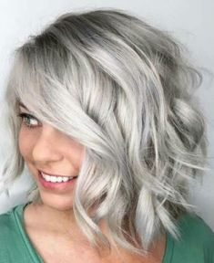 Amazing ash blonde hair color trends and shades for 2019 primemod. Bobs For Round Faces, Hairstyles For Round Faces, Medium Hair Styles, Short Hair Styles, Aveda Hair Color, Lighter Hair, Silver Grey Hair, Gray Hair, Brown Hair