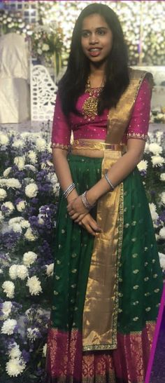 Long Gown Dress, Saree Dress, Designer Anarkali Dresses, Designer Dresses, Baby Girl Dresses, Girl Outfits, Kerala Engagement Dress, Lehenga Crop Top, Long Dress Design
