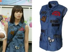"Jung Eun-Ji in ""Trot Lovers"" Episode 4.  VOV Vintage Denim Vest #Kdrama #TrotLovers #트로트의연인 #JungEunJi #정은지"