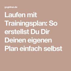 Laufen mit Trainingsplan: So erstellst Du Dir Deinen eigenen Plan einfach selbst
