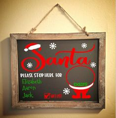 Cricut Christmas Ideas, Pallet Christmas, Christmas Chalkboard, Christmas Signs, Christmas Stuff, Christmas Crafts, Christmas Decorations, Santa Countdown, Christmas Countdown
