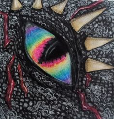 deze was voor een school opdracht, we moesten een draken oog maken met verschillende kleuren, later moesten we de draak er om heen tekenen, ik heb een 9 gekregen. een paar tips als je dit ook gaat proberen, maak veel schaduwen met een donker potlood en gebruik veel witte lijnen om het net wat echter te laten lijken, veel suc6!