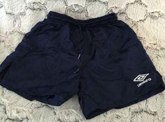 Umbro Boy's Checked Soccer Shorts Size XX-Small Dark Navy Blue 100% Nylon Sports #UMBRO #Everyday